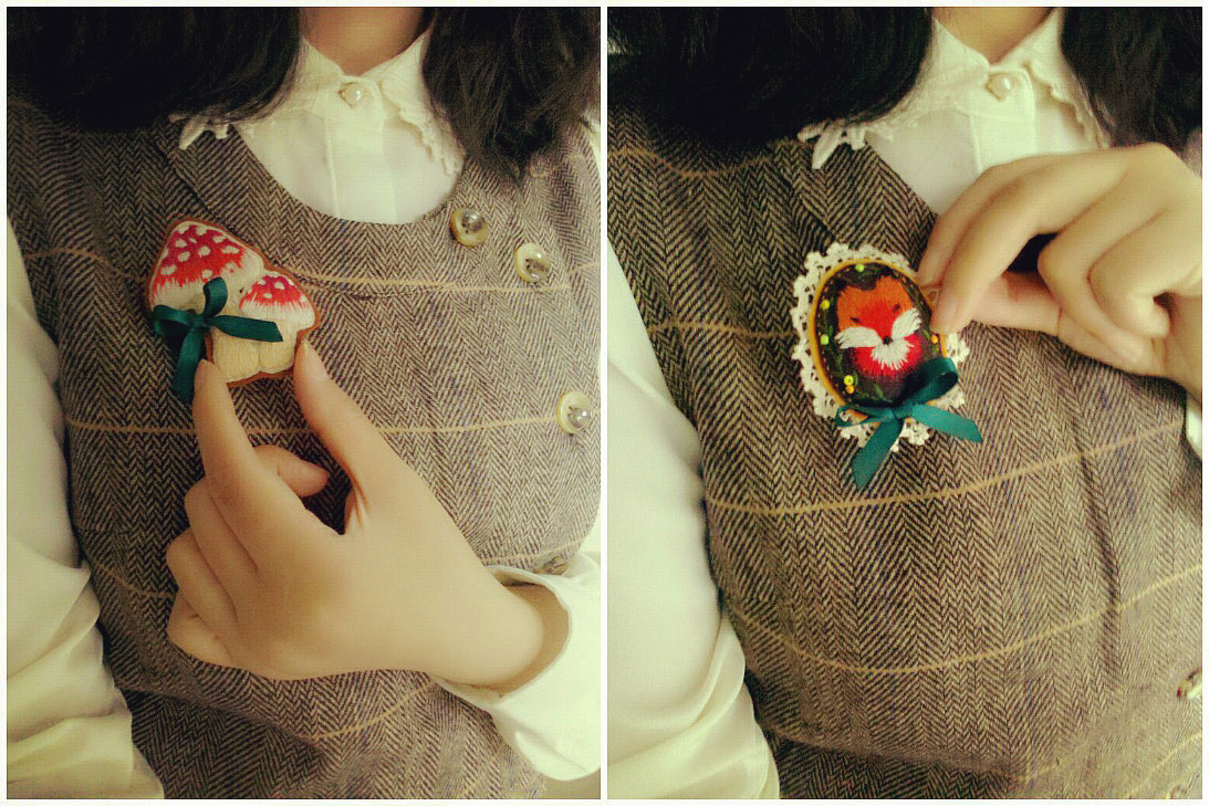 tekin hand pin brooch ta by pinterest nazire on kobal tc buttons embroidery benden dots brooches crossstitch