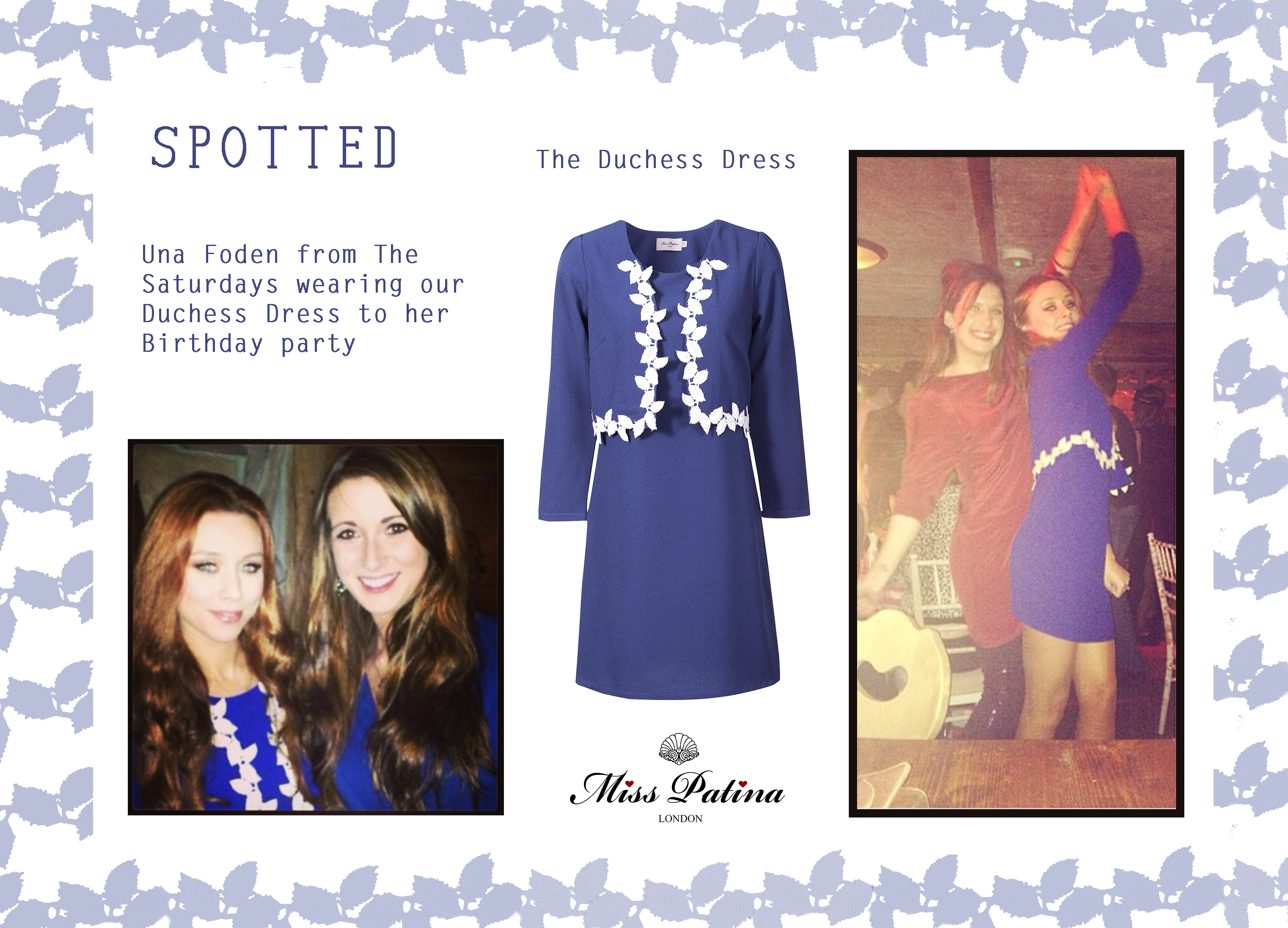 Spotted: The Saturdays, Una Foden wearing Miss Patina
