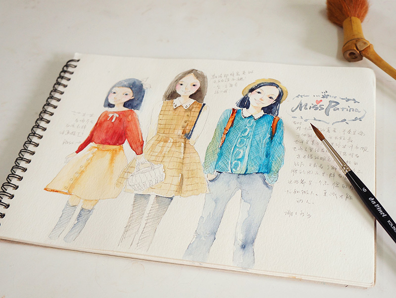 Illustrator Xiao Dou draws our Miss Patina girls
