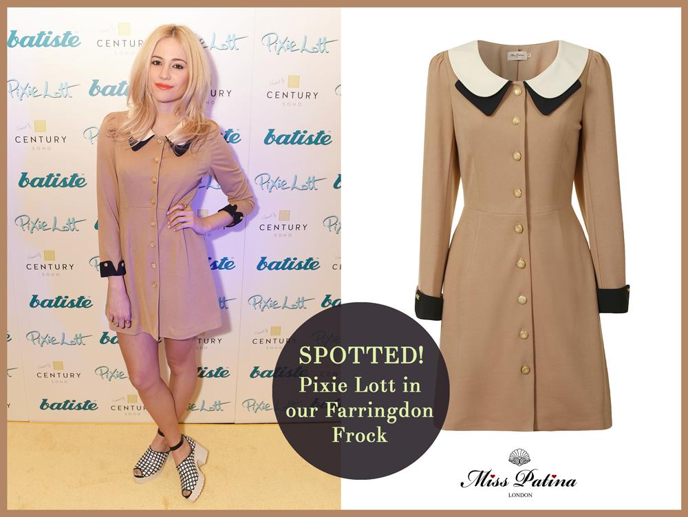Spotted: Pixie Lott wearing Farringdon Frock