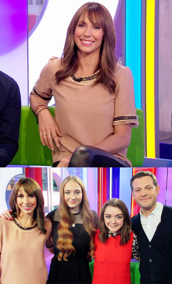 Spotted: Alex Jones wearing Miss Patina on BBC The One Show