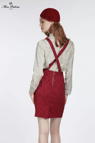 Miss Adelaide Dungarees (Burgundy) (5)