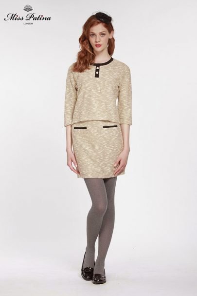 First Lady Top (Beige) (1)