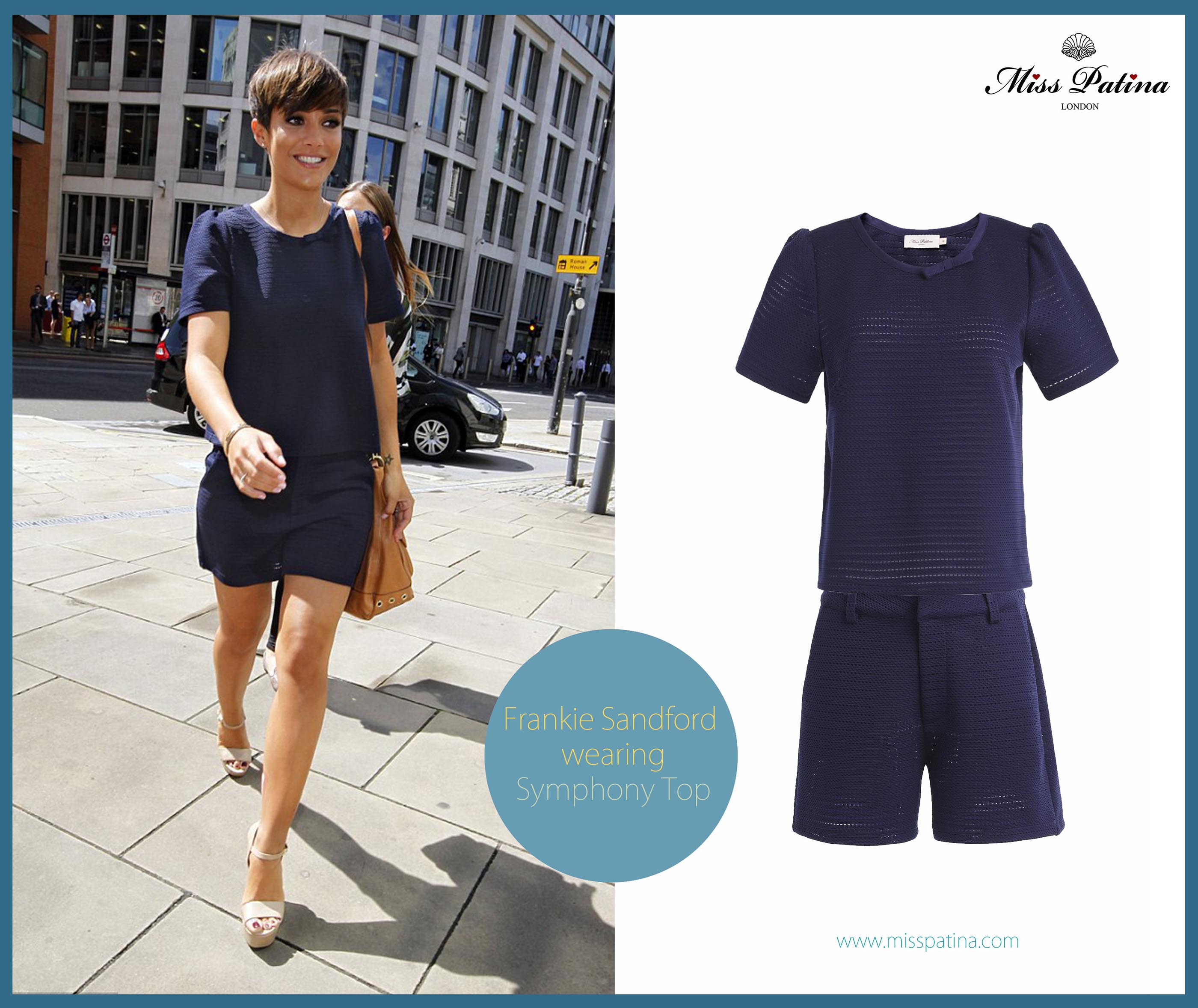 Spotted: Frankie Sandford In Matching Symphony Set