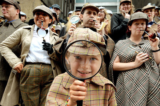 Sherlock Holmes style inspired world record attempt