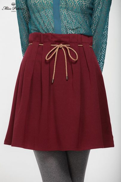 High Bow Skirt (Burgundy) (1)