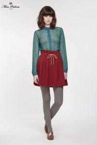 High Bow Skirt (Burgundy) (2)