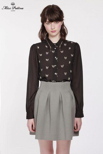Uptown Skirt (Grey) (2)