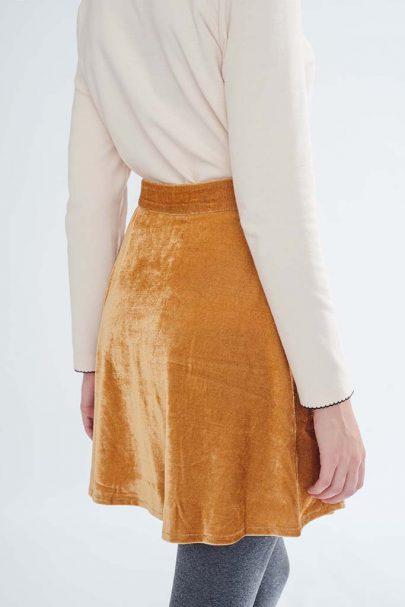 Velvet Dream Skirt (Mustard) (1)
