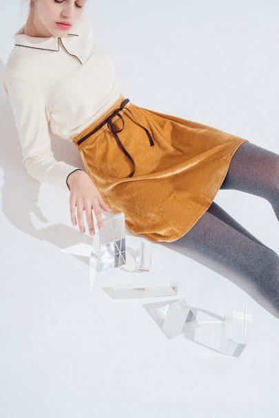 Velvet Dream Skirt (Mustard) (6)