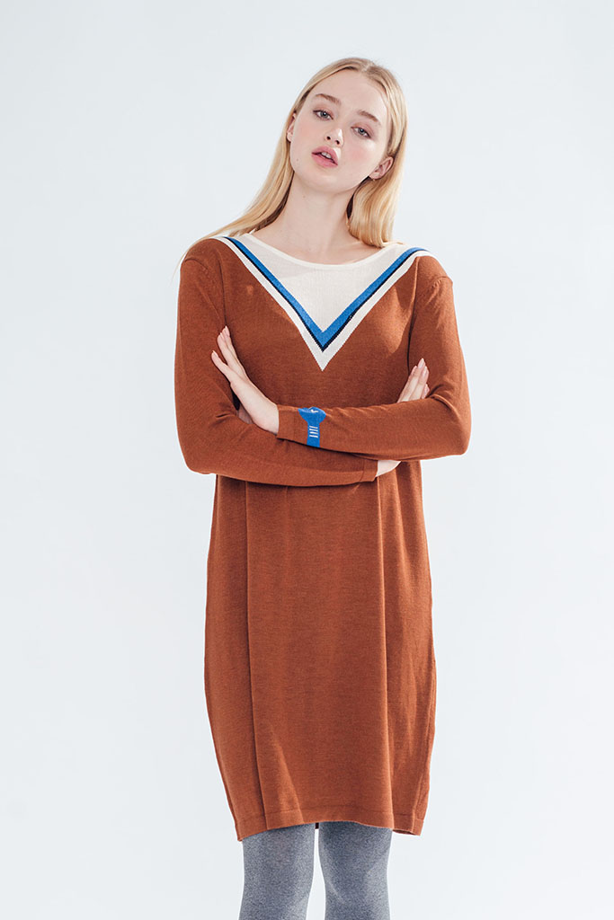 Space and Time Dress (Caramel) (9)
