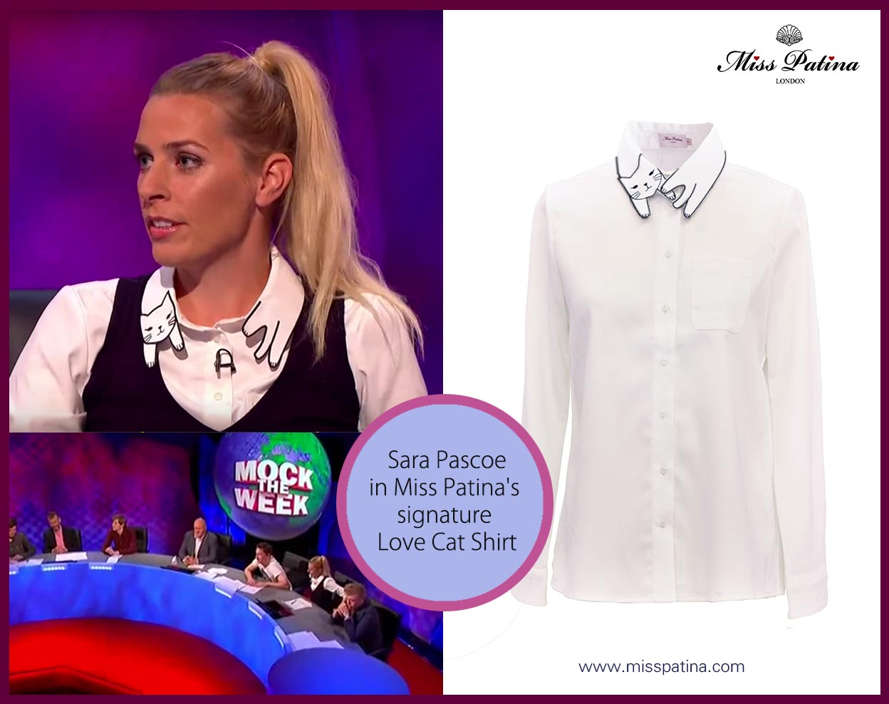 sara-pascoe-in-misspatina cat shirt