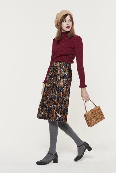 Velvety Pleats Skirt (1)