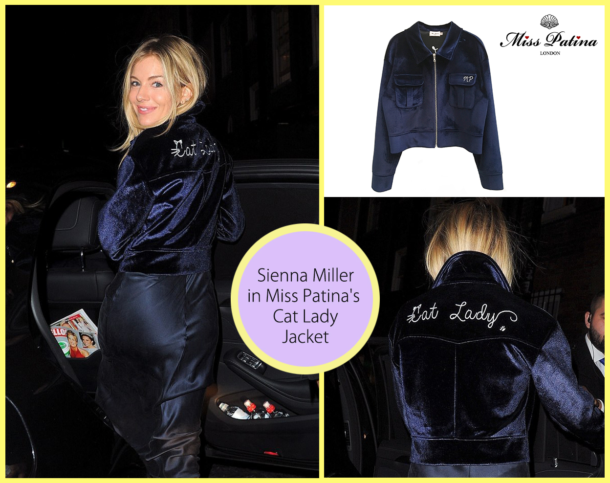 Spotted! Actress Sienna Miller in Cat Lady Jacket!