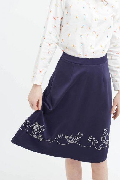 Mer-Cat Cadence Skirt (Navy) (2)