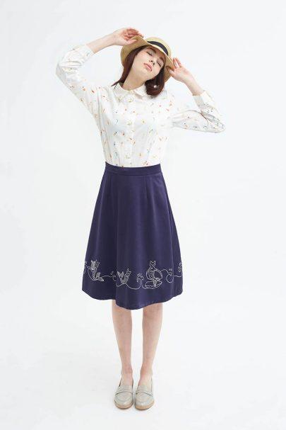 Mer-Cat Cadence Skirt (Navy) (3)