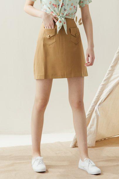 Picnic Skirt (Earthy Brown) (1)