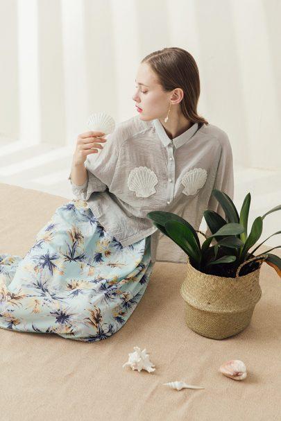 The Bettie Skirt (Palm Tree) (4)