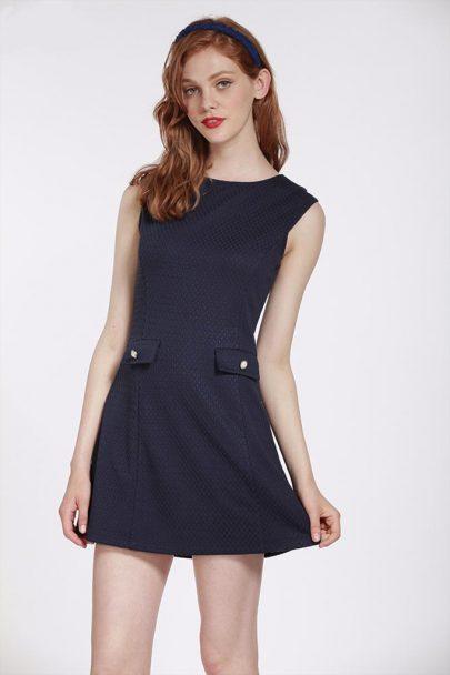 Twiggy Dress (Navy) (1)
