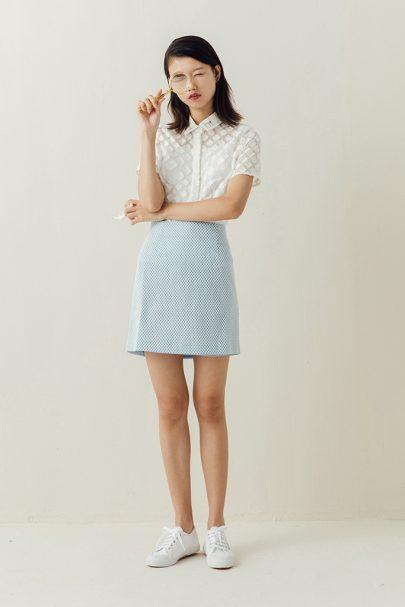 The Sweetheart Skirt (Baby Blue) (2)