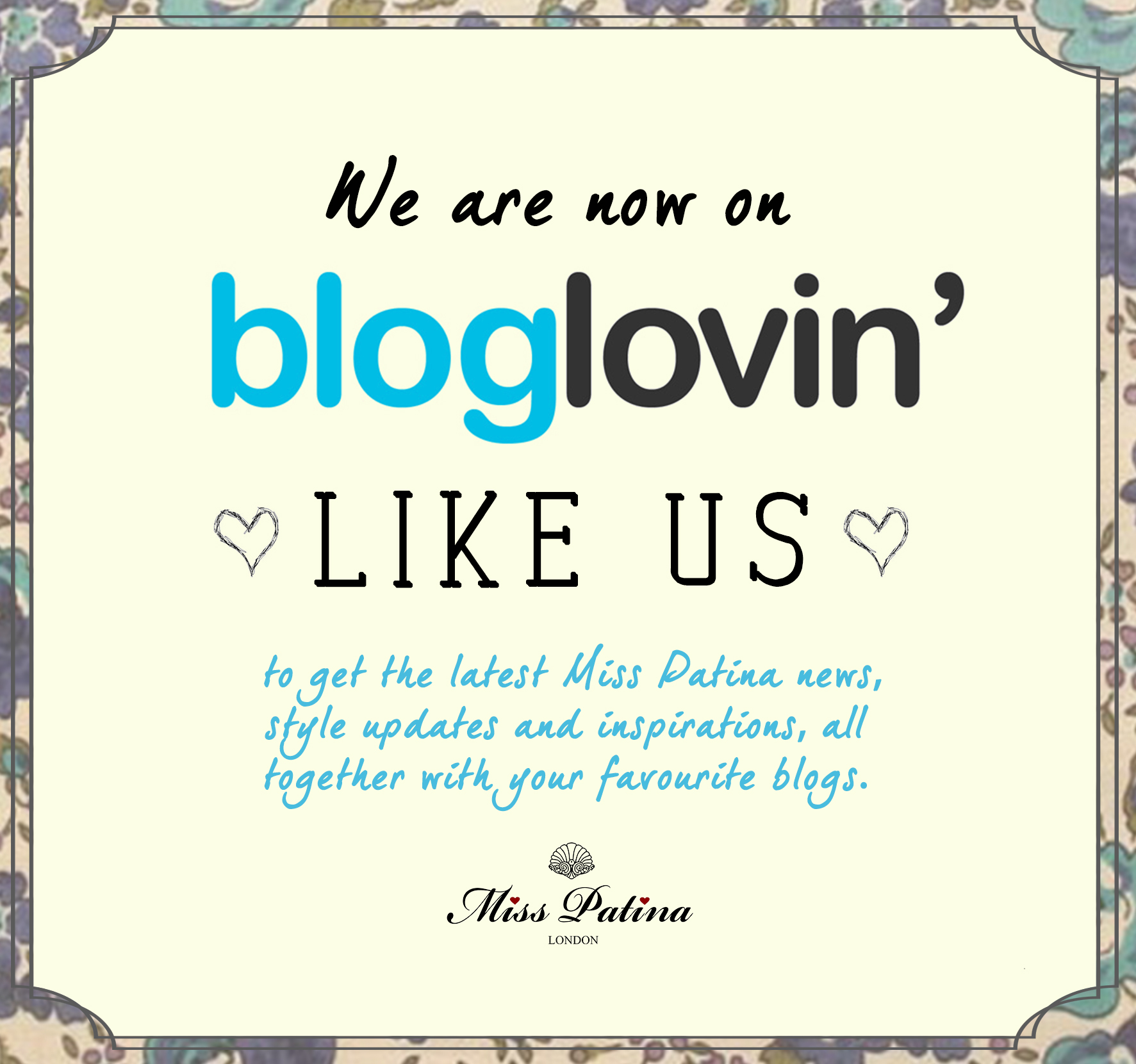 We are now on Bloglovin!