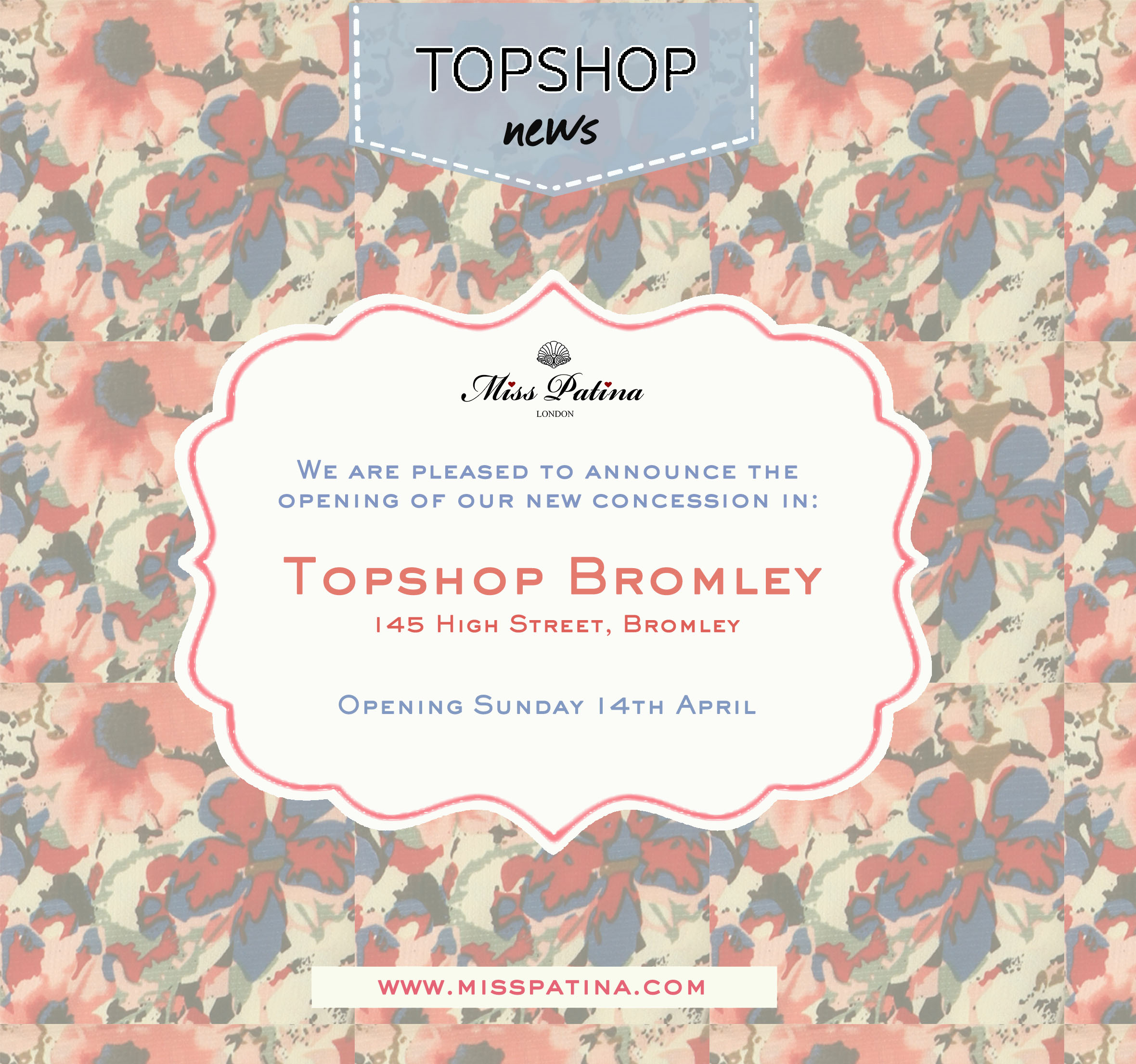 Miss Patina Opens in Topshop Bromley