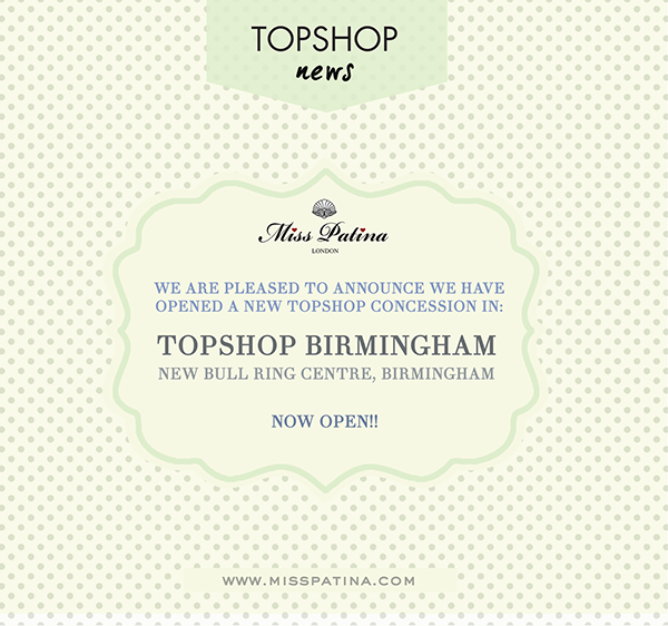 New Topshop Concession Opened In Birmingham