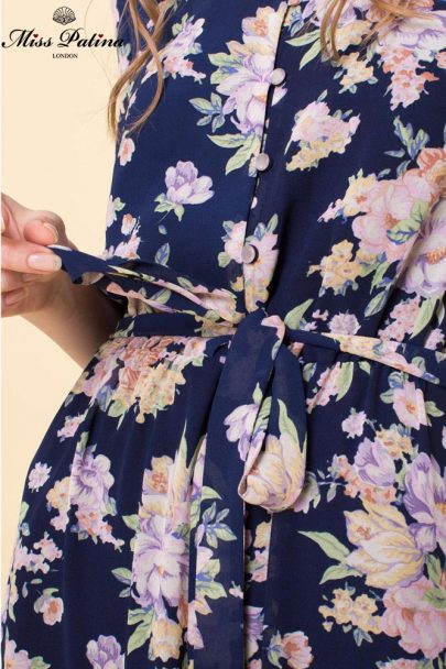Garden Bloom Dress (Navy) (1)