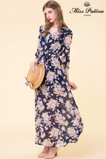 Garden Bloom Dress (Navy) (3)