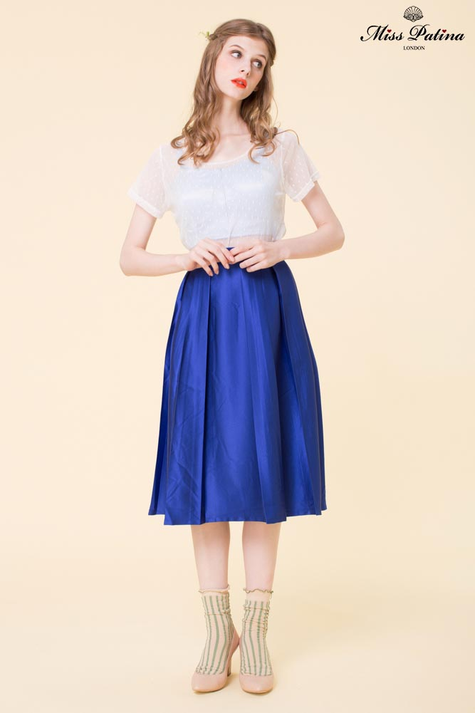 Spring Swing Skirt Electric Blue Miss Patina