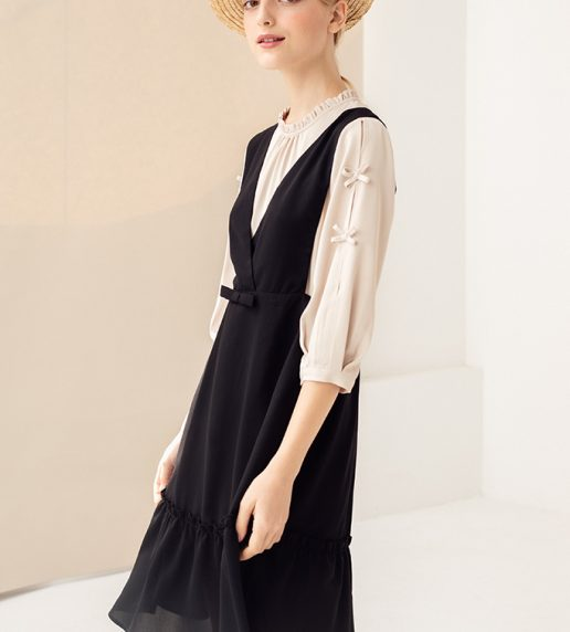 Keira Pinafore Dress (Noir)