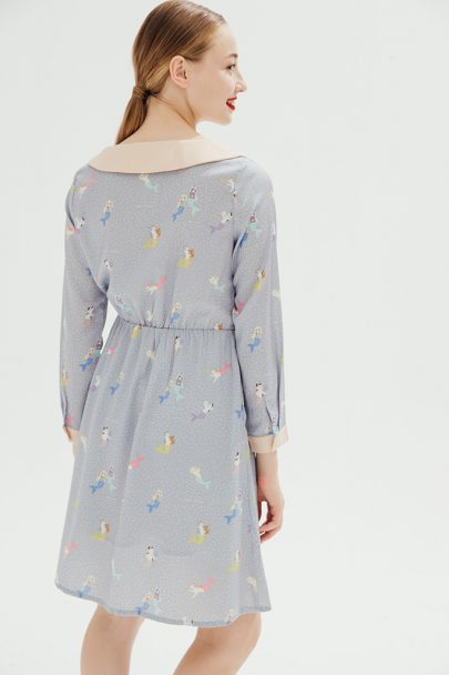 Love Mer-Cat Dress(Mist Blue) 16SS-DRS-33 (4)