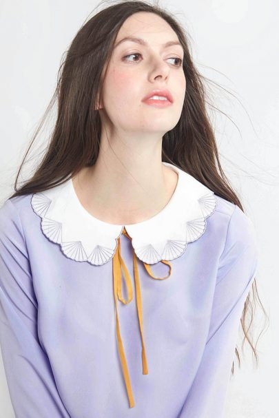 Paper Shell Top (Lavender) (2)