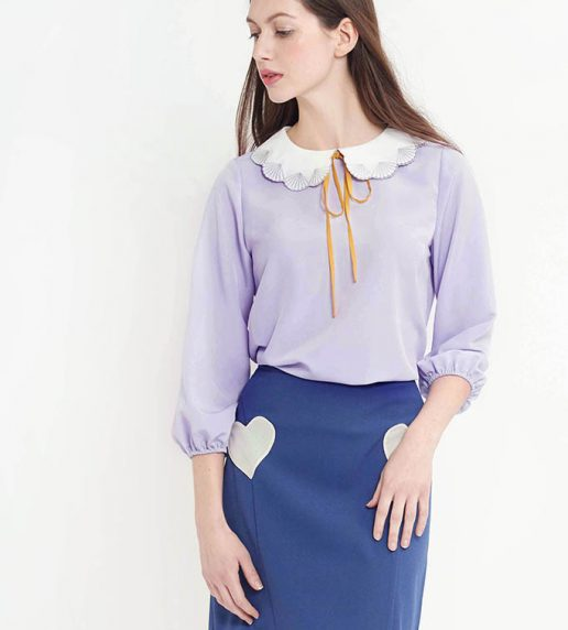 Paper Shell Top (Lavender)