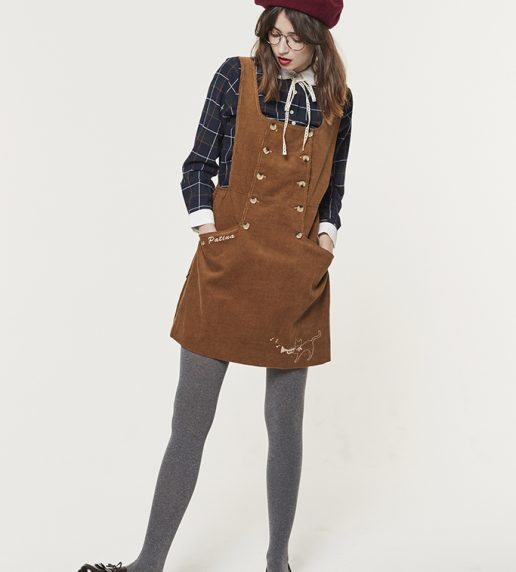 Moorland Melody Pinafore (Toffee)