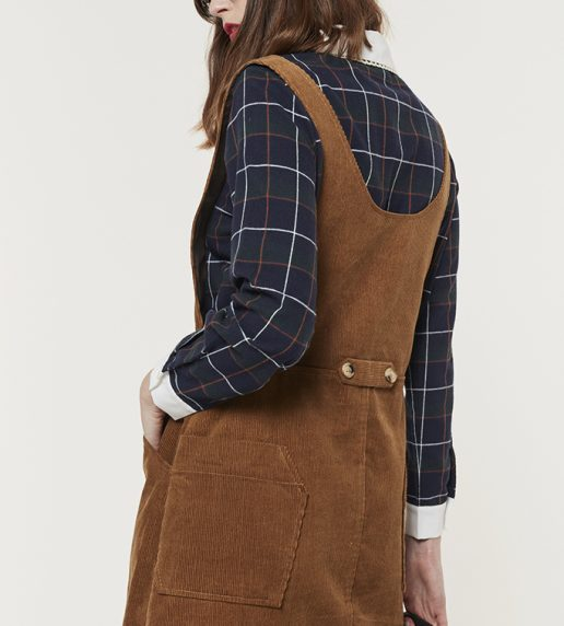 Moorland Melody Dungaree Dress (Toffee)