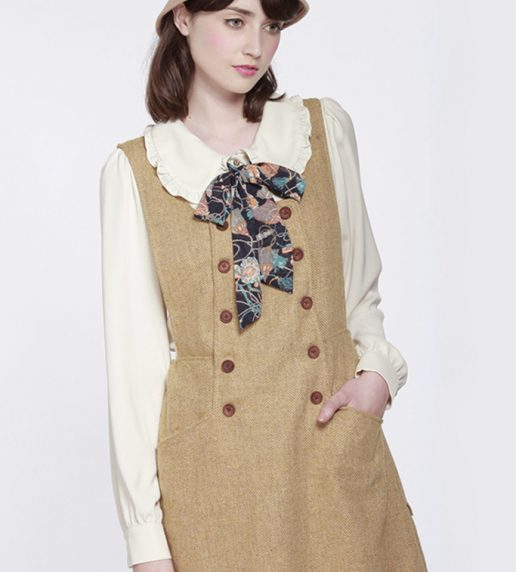 Yair Forest Pinafore Dress