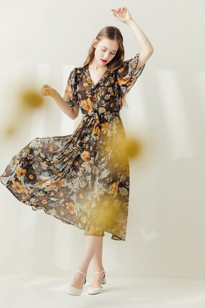 MISS PATINA 18SS-DRS-17(Cocoa Flower) (3)