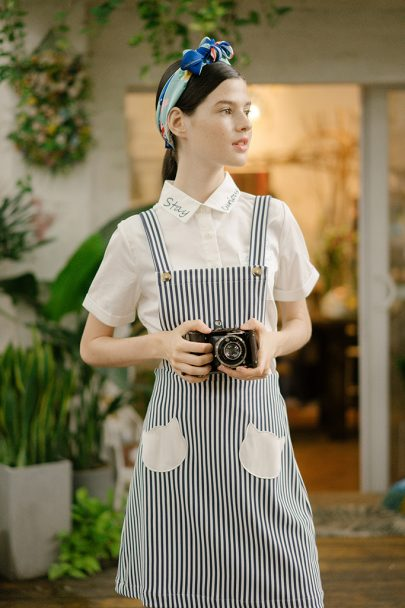 Pocket Cat Dungaree(Stripes) 16SS-DGR-01 (7)