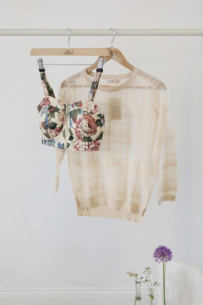 Royal Rose Crop Top (Cream) (1)