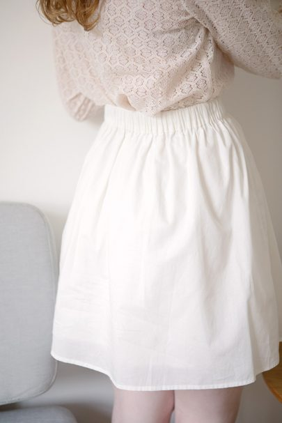 Stand Out Lace Skirt (White) 2