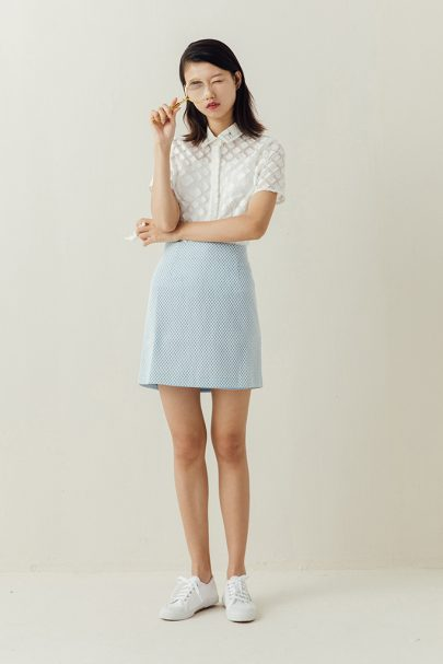 The Sweetheart Skirt (Baby Blue) (2)
