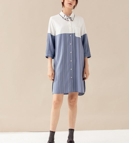 Alicia Kitten Shirt Dress