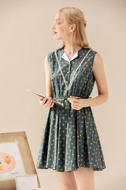 1d7995cc1ed5 Apple Blossom Dress(Green) (6)